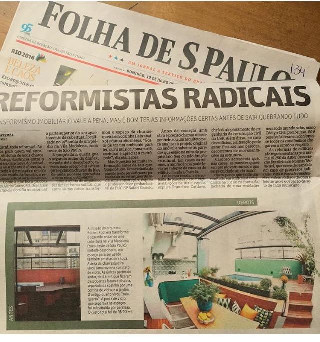 capa do jornal folha de São Paulo