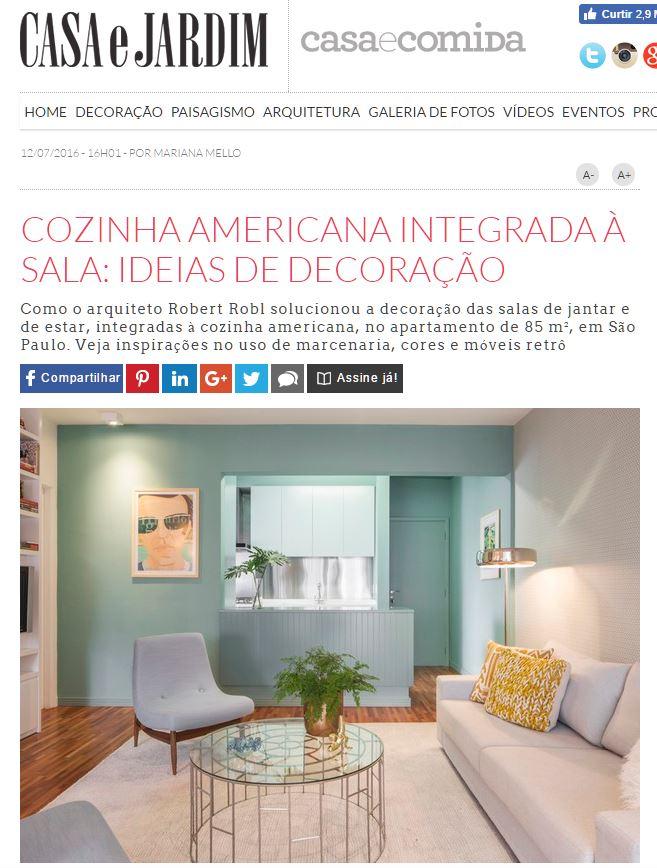 cozinha americana integrada à sala